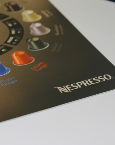 Produção de Stickers Box Nespresso