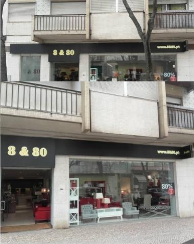 Reclamo Luminoso em Acrilico Lojas 8&80