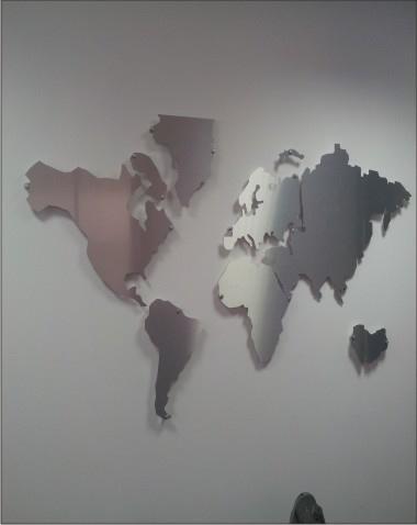Recorte de Mapa em Dibond